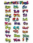 Graffiti Rainbow Font