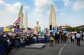 Bangkok - November 11 : The Democrats Are On The March At Democracy Monument, On November 11, 2013