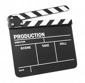 foto of clapper board  - Clapper board on white background - JPG