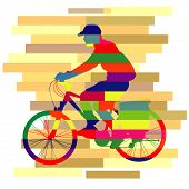 Colourful Of Ride Bicycle Vector.eps