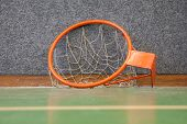 Old Basketball Hoop With Net