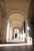 stock photo of torino  - Torino historical streets and galleries in Ital vacation - JPG
