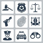 picture of court hammer  - Vector isolated criminal - JPG