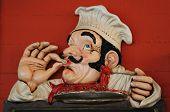 Постер, плакат: Мультфильм шеф повар приготовления что то специальное