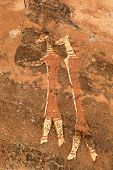 Bushmen (san) rock painting, Drakensberg mountains, South Africa