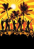 stock photo of beach party  - party flyer for your beach party or fest - JPG