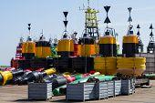 Beacon Buoy High Seas With Signalling Light
