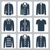 Vector Men Clothes Icons