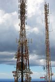 telecommunications tower telephony repeaters in Menorca Pico del Toro