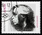 Postage Stamp Germany 1996 Self-portrait, By Kathe Kollwitz