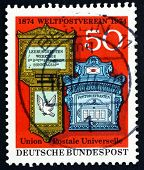 Postage Stamp Germany 1974 Swiss And German Mail Boxes