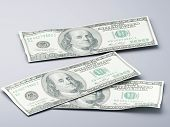 picture of 100 dollars dollar bill american paper money cash stack  - Stacks of hundred dollar bills 3d illustration - JPG