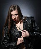 Rocker Girl With Guitar