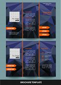 Vector  business  three fold  brochure template