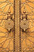 Golden door at the palace