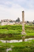 pic of artemis  - Flooded ruins of the Temple of Artemis one of the Seven wonders of the ancient world Selcuk Turkey - JPG