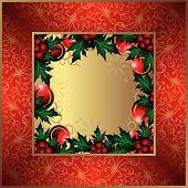 Christmas Floral Frame