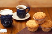 Muffin With Coffee,milk