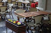 Outdoor Cafe In Prague