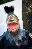 Tired Medieval Knight Portrait