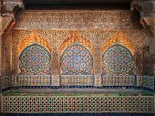 Ancient Arabic Niche With Mosaic In Medina. Tangier, Morocco