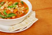 Top View Vegetable Soup