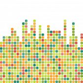 Abstract pixel mosaic colorful background