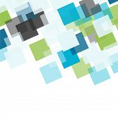 Abstract square colorful mosaic background