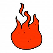cartoon flame symbol