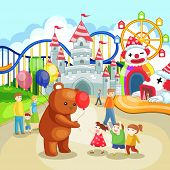 Amusement Park For Children In Summer Holiday (vector)
