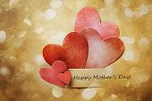 Mothers Day Card With Hand-crafted Hearts