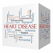 Heart Disease 3D Cube Word Cloud Concept