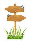 Double wooden sign
