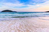 Beautiful Beach And Crystal Clear Sea At Tropical Island,