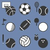 List of ball sports related icons