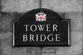 Street Sign Of Tower Bridge