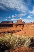Clouds Pass Over John Point, Monument Valley Tribal Park, A poster