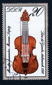 GERMANY - CIRCA 1979: Stamp printed in East Germany showing the image of fiddle, series, circa 1979