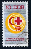 GERMANY,  CIRCA 1969: Postage stamp printed in GERMANY (DDR), dedicated to the International Red Cro