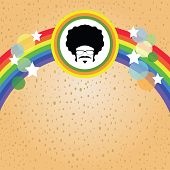 afro man and rainbow