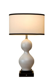 picture of lamp shade  - Curved Lamp with Light ON - JPG