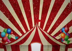 stock photo of circus tent  - Illustration of Vintage circus - JPG