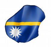 Nauru Flag Map