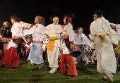 Japanese Daihanya Festival Dancers at night