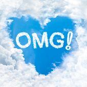 Omg Word On Blue Sky