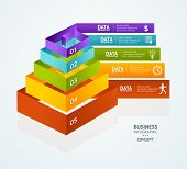 stock photo of pyramid shape  - Pyramid chart for infographics design or web template - JPG