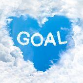 Goal Word On Blue Sky