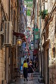 Narrow Street In Dubrovnik, Croatia