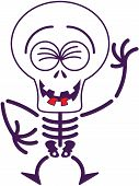Cool Halloween skeleton laughing enthusiastically