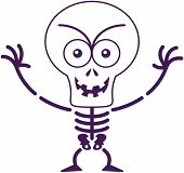 picture of maliciousness  - Malicious skeleton with big head - JPG
